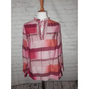 TALBOTS Top 1X Woman Petites Tunic Pink Purple